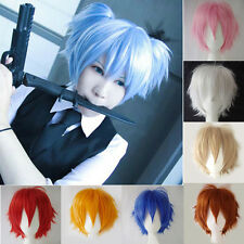 Ladies Cosplay Wigs Short Synthetic Heat Resistant Anime Wig Average Cap Size A6