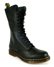 Dr Martens 1914 Smooth Black Leather 14 Eye Ankle Unisex Boots Size 5-12