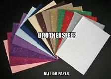 A4 Soft Touch Fixed Glitter Paper Sparkly, Non Shedding 100gsm Choice of Colours