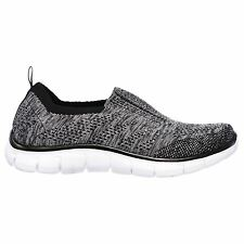 Skechers Empire - Round Up Black Silver Womens Running Trainers