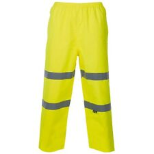 Supertouch Yellow Hi High Vis Visibility Breathable PU Waterproof Trousers Pants