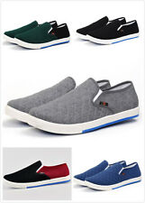 Fashion Men Flats Loafers Slip On Canvas Sneakers Boat Casual Shoes 2017