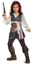 Captain Jack Sparrow Girl Pirates Caribbean Fancy Dress Halloween Child Costume
