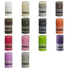 B#New Bolsius Rustic Pillar Candle 130x68mm 6 Pieces Various Colours Selectable