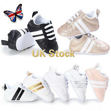UK Girls Boys Toddler Casual Sports Walking Trainers Baby Kids Sneakers Shoes