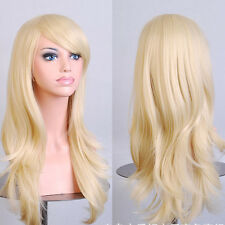 70cm Womens Long Big Wavy Wig Hair Heat Resistant 5 Color Cosplay Full Wig JF4