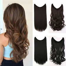 US Headband Hair Extension 1 Pcs Invisible Wire Hairpiece Black Brown Blonde FO5