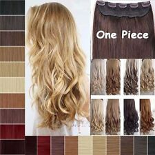 US Ombre As Remy One Piece Clip In Real Thick Hair Extensions Half Full Head Tmk