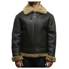 Mens Real Sheepskin Leather Jackets  Mens sheepskin Jackets  Mens Flying jackets