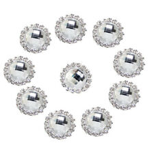 10pcs 18mm Acrylic Crystal Round Buttons Beads Gems Wedding Decor Scrapbooking