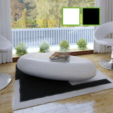 NEW Coffee Table Side Table Fiber Glass White / Black High-quality High Gloss