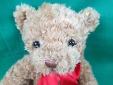 FIRST AND MAIN CHRISTMAS BROWN PLUSH WHITE TEDDY BEAR HOLIDAY PLUSH RED BOW