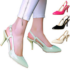 Patent Womens Party Ankle strap Career Slingbacks Elegant Sandals Size 1-13