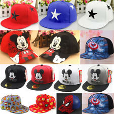 Children Kids Snapback Baseball Cap Boys Girls Hero Mickey Minnie Hip Pop Hat
