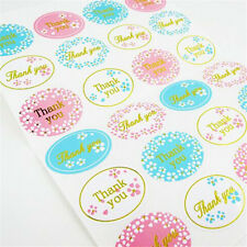 """120Pcs/5 sheets Oval """"Thank You"""" Adhesive Seal Sticker Label Envelope Decor New"""