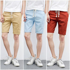 Mens Boys Casual Cargo Shorts Summer Short Trousers Slim Fit Shorts Cotton Pants
