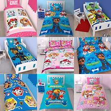 NEW PAW PATROL DUVET QUILT COVER SET GIRLS BOYS IN SINGLE, DOUBLE + COT BED SIZE