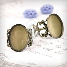 5/6pcs Flat Oval/Bow Tie Ring Mountings Engagement Settings Antique Color Hot