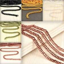 4m 13.12feet Open Link Unfinished Curb Chain Bulk Jewelry Necklace Findings YB