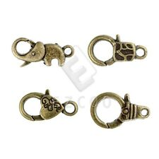 10-20pcs Lobster Claw Clasps Antique Brass Charm Jewelry Findings 3 Style YB
