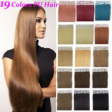 16''18''20''22''24'' Full Head 100% Remy PU Tape in Human Hair Extensions