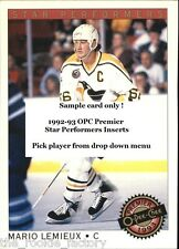 1992-93 OPC Premier Star Performers   Inserts #1-22   Hockey   Pick from list