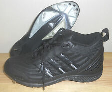 NEW ADIDAS MENS size 12 Black SPINNER IV 3/4 BASEBALL CLEATS Shoes Sneakers NIB