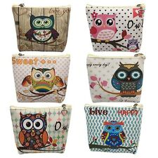Lady Women Owl PU Leather Wallets Purse Coin Bag Ticket ID Card Holder New