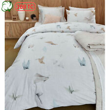300TC Cotton Percale Origami Birds Silver Quilt Cover Set QUEEN KING Super King