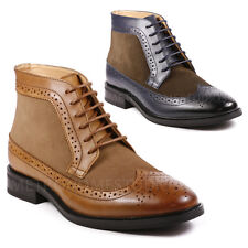 La Milano Men's Wing Tip Oxford Leather/Suede Boots B51315