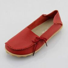 Women Real Leather Shoes Moccasins Mother Loafers Soft Leisure Flats Female 6
