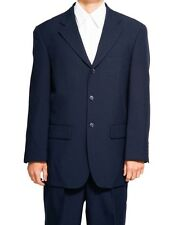 New Mens 3 Button SB Navy Blue Dress Suit 56L 56 L Long Single Breasted Style