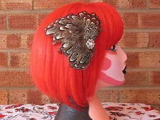 Pheasant or Woodcock Taxidermy Fascinator Hairclip Ethical by Tattoo Heroine