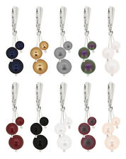 Sterling Silver Earrings Safety Hooks made with 5810 Pearls Swarovski® Crystals