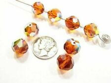 Swarovski 39 Madeira Topaz AB Various Sizes Vintage Crystal Beads
