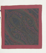 NEW Ralph Lauren Purple Label Silk Pocket Square!  Made in Italy  Paisley