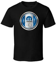 MOPAR 80th ANNIVERSARY LOGO MEN'S COTTON BLACK TEE SHIRT