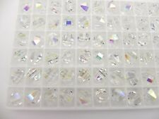 Swarovski 5004 Crystal AB Various Sizes Vintage Faceted Crystal Beads
