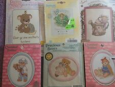 CHOOSE ONE: JANLYNN COUNTED CROSS STITCH KITS PRECIOUS MOMENTS/CHERISHED TEDDIES