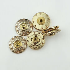 12Pcs Metal Gold Tone Snap Button Fasteners Press Stud Sewing Closure Round 20mm