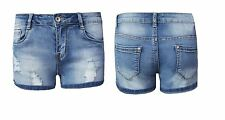 Womens Ladies Distressed Ripped Denim Shorts Vintage Pants Hotpants Jeans