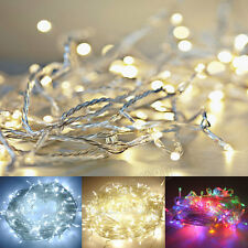 Xmas LED String Fairy Lights 20/30/40/50/100 Battery Operated Party Room Decor