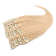 NEW 8A 22'' 80g 7pcs Set 100% Remy Human Hair Clip In Human Hair Extensions