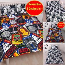 NEW STAR WARS 'CLASSIC' DUVET QUILT COVER SET BOYS -Sizes Single, Double or King