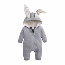 Toddler Kids Baby Boy Warm Infant Romper Jumpsuit Bodysuit Hooded Clothes