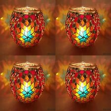 Handmade Turkish Moroccan Glass Mosaic Candle Holder Tea Light - UK