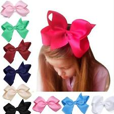 New Alligator Clips Girls Large Bow Ribbon Kids Accessories Hair Clip SO6H