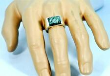 RARE NATURAL SERAPHINITE 925 STERLING SILVER MENS RING #0215