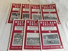 WEST HAM UNITED 1960/1961  HOME PROGRAMMES