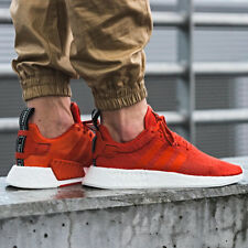 ADIDAS NMD R2 PK PRIMEKNIT BOOST RED SHOES Size 4 5 6 7 8 9 10 11 12 13 OG NEW